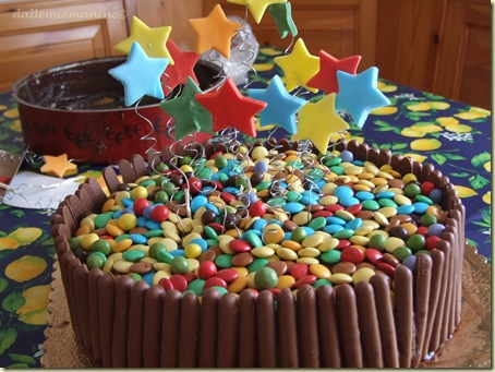 torta stelle e smarties