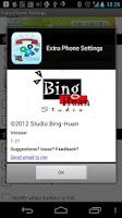 Screenshot of Extra Phone Settings