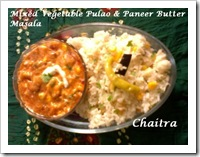 Chaitra's onb with veg pulao