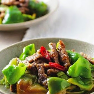 Fried Beef With Green Pepper
