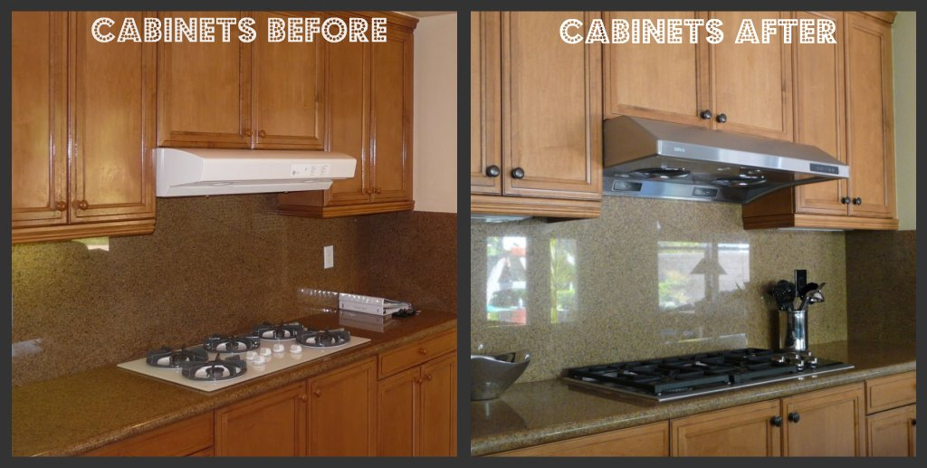 Kitchen update with island makeover for Adding knobs to kitchen cabinets