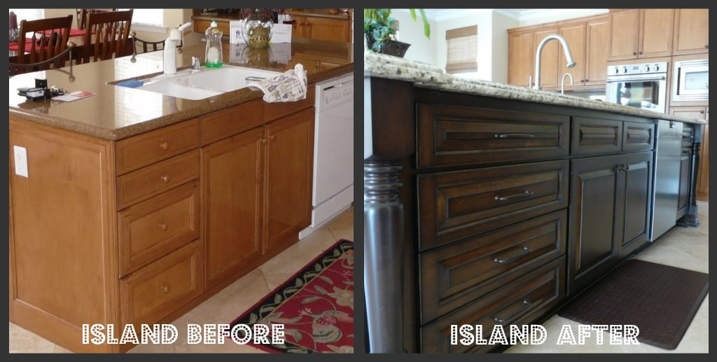 Brand New Staining Oak Kitchen Cabinets Before And After