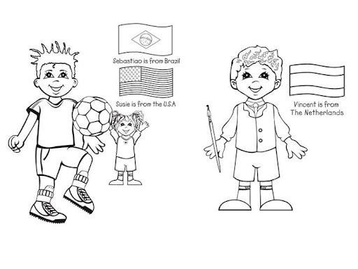 Dibujos De Las Misiones: PINTAR NIÑOS DEL MUNDO