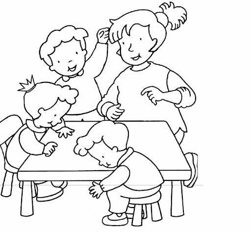 Dibujos Para Pintar Niños Aula Peleando Imagui