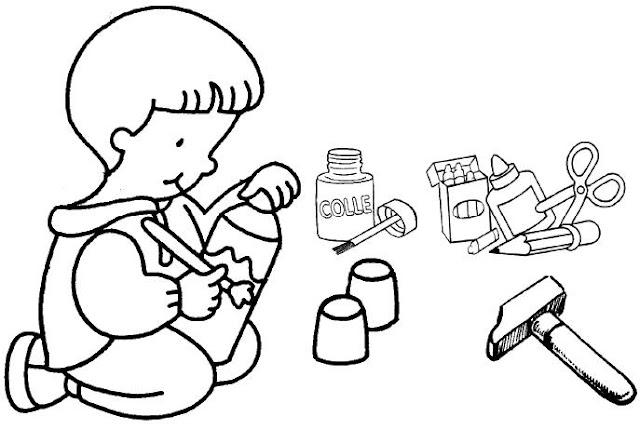 Dibujos Para Colorear De Actividades De Los Niños