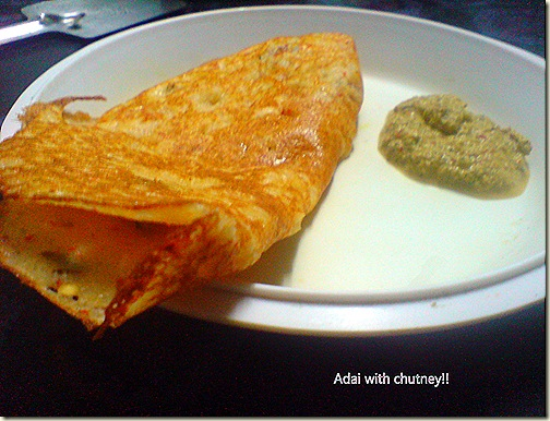 Adai with Chutney!!