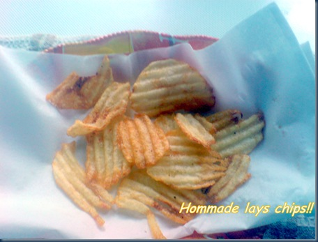 Home made lays chips