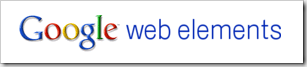google web elements
