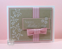 pink white & kraft mothers day