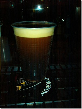 Guinness in Plastikbecher