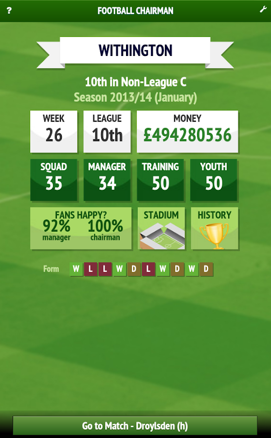 Football Chairman Lite - screenshot