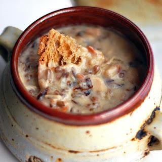 Chicken Bacon Wild Rice Soup.