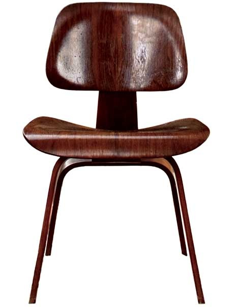 rosewood Eames potato chip chair