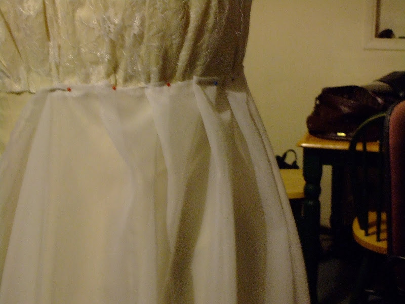 Making a wedding dress part 4: draping the overgown and