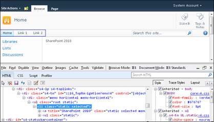 Hide First Tab in SharePoint 2010 Navigation