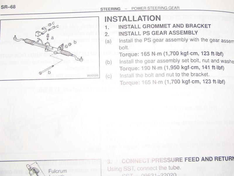 Steering rack bushing torque specs? - Toyota 4Runner Forum