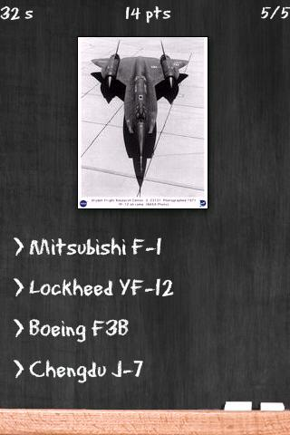 Military Fighter Jets Quiz - screenshot
