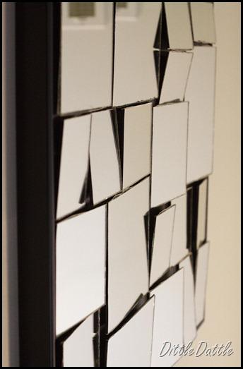 Framed Broken Mirror Art