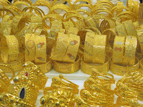 Gold at the gold souk in Dubai