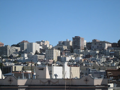 Pacific Heights in San Francisco as seen from a Marina rooftop