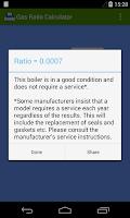 Screenshot of Gas Ratio Calculator