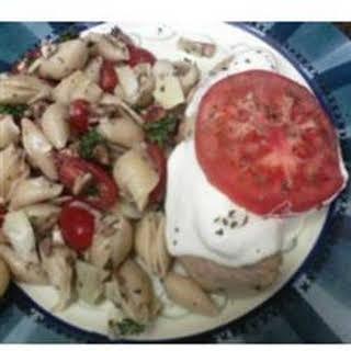 Quick Artichoke Pasta Salad.