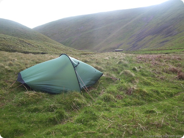 windy wild camp cheviot hills