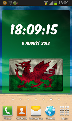 Wales Digital Clock