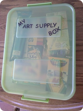 create a kids art box