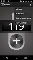Screenshot of Click/Tally Counter