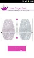 Screenshot of Love Finger Test