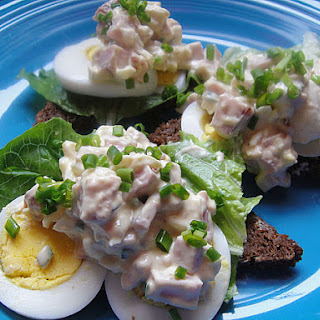 Chopped Ham Salad with Hard Boiled Eggs