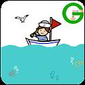 손그림 마린보이 카카오톡 테마 icon