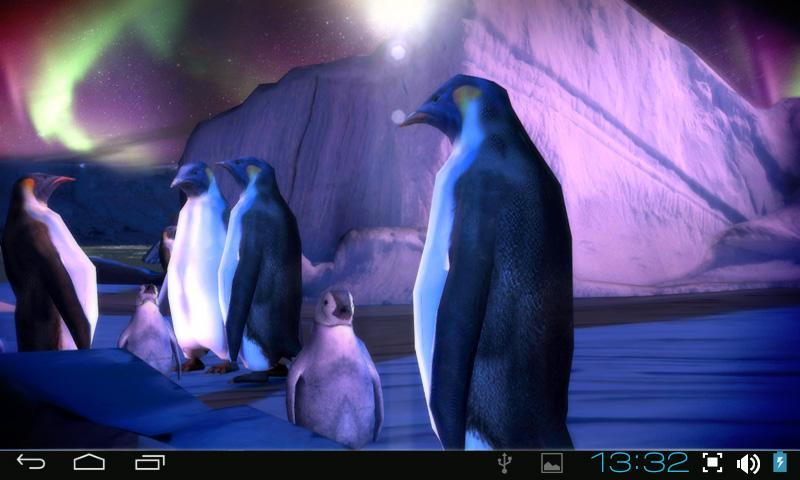 Penguins 3D Pro Live Wallpaper- screenshot