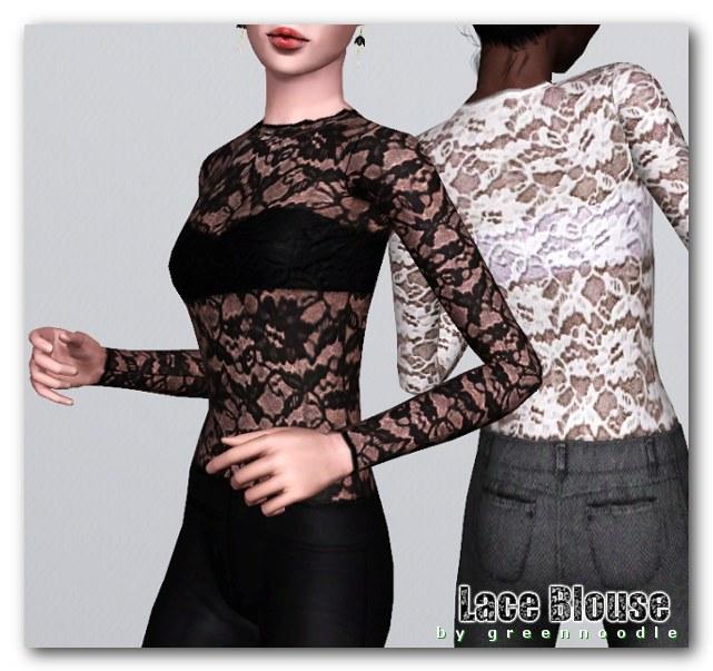 Imaginarium of Green: Lace blouse