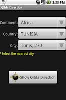 Screenshot of Qibla Direction