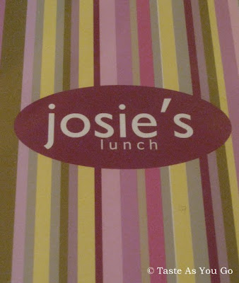 Lunch Menu Cover at Josie's East in New York, NY - Photo by Taste As You Go
