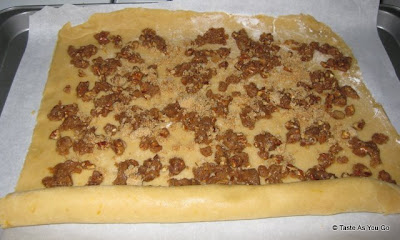 Dough and Filling for Cinnamon Pecan Swirl Cookies - Photo by Taste As You Go