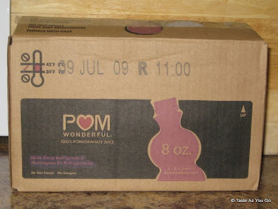 Case of POM Wonderful - Photo by Michelle Judd of Taste As You Go