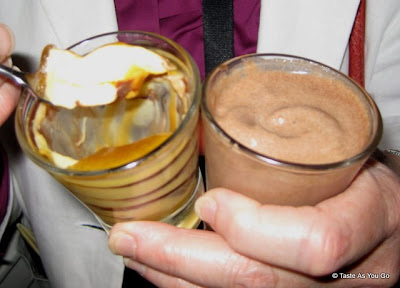 Butterscotch Pana Cotta and Nutella Milkshake at the Foodbuzz Cocktail Party at David Burke Townhouse | Taste As You Go
