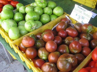 Tomatoes at the Farmers' Market in Brooklyn, NY - Photo by Taste As You Go