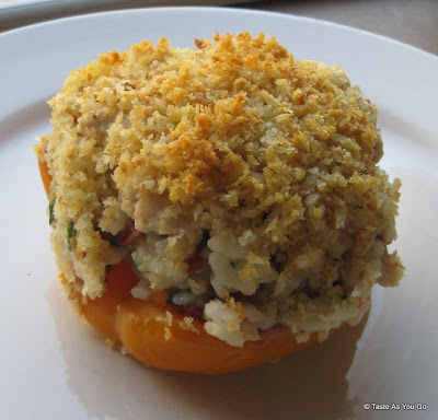 Stuffed Bell Peppers with Ground Turkey and Sun-Dried Tomatoes - Photo by Taste As You Go