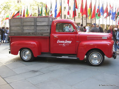 Ocean Spray Truck in Rockefeller Center in New York, NY | Taste As You Go