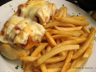 The Market Maker (Chicken Parmesan Sandwich) at Exchange Bar & Grill in New York, NY - Photo by Taste As You Go