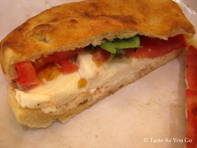 Housemade Mozzarella, Local Tomato & Basil Sandwich from Pane Bianco in Phoenix, AZ - Photo by Taste As You Go