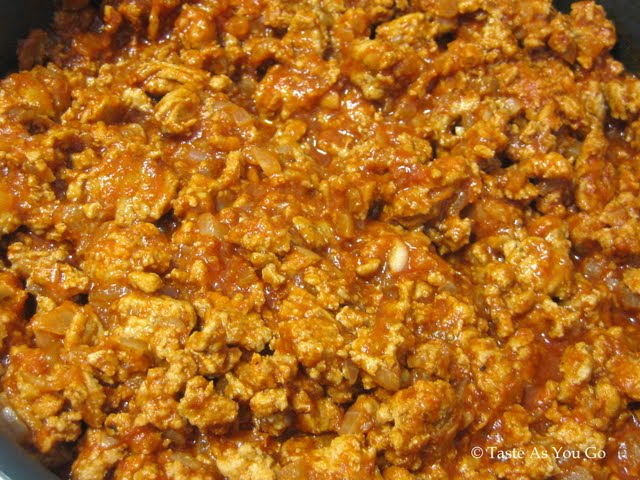 Ground Turkey Sloppy Joe Filling | Taste As You Go