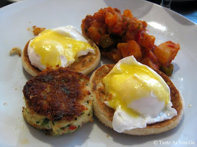 Eggs Benedict with Maryland Crab Cakes at Il Bastardo in New York, NY - Photo by Taste As You Go