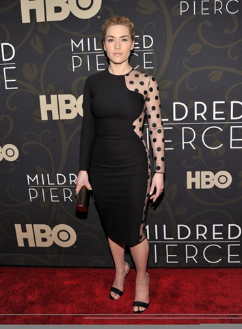 Kate Winslet attends the Mildred Pierce premiere