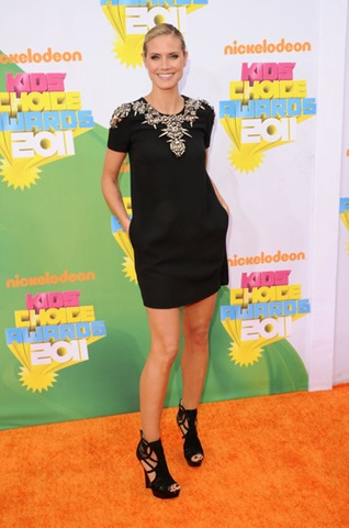 Heidi Klum arrives at Nickelodeon's 24th Annual Kids' Choice Awards