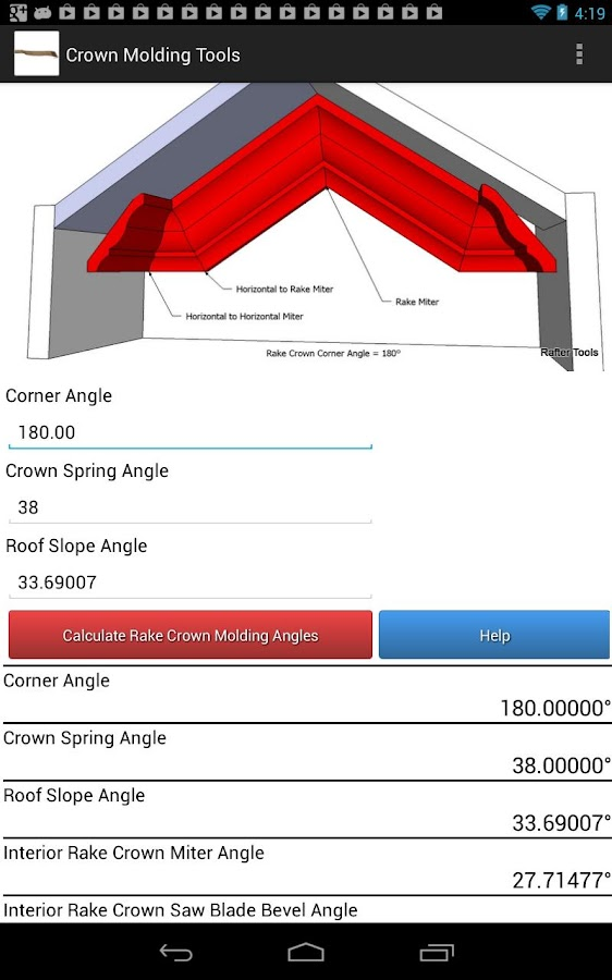 Crown Molding Tools - screenshot